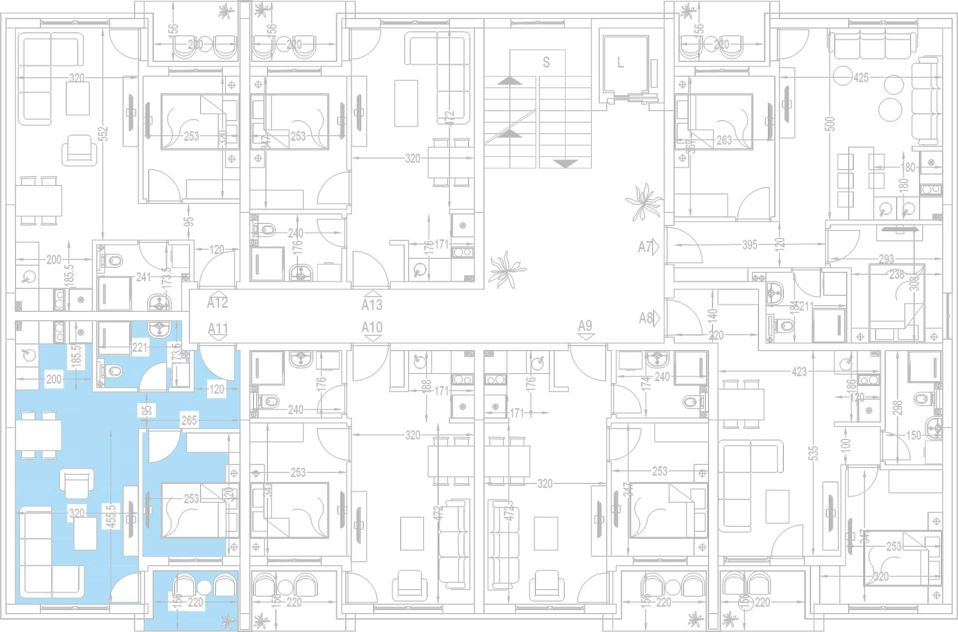 Orjentacija-stambenih-jedinica-A11,-A18,-A25,-A32,-A39,-A46
