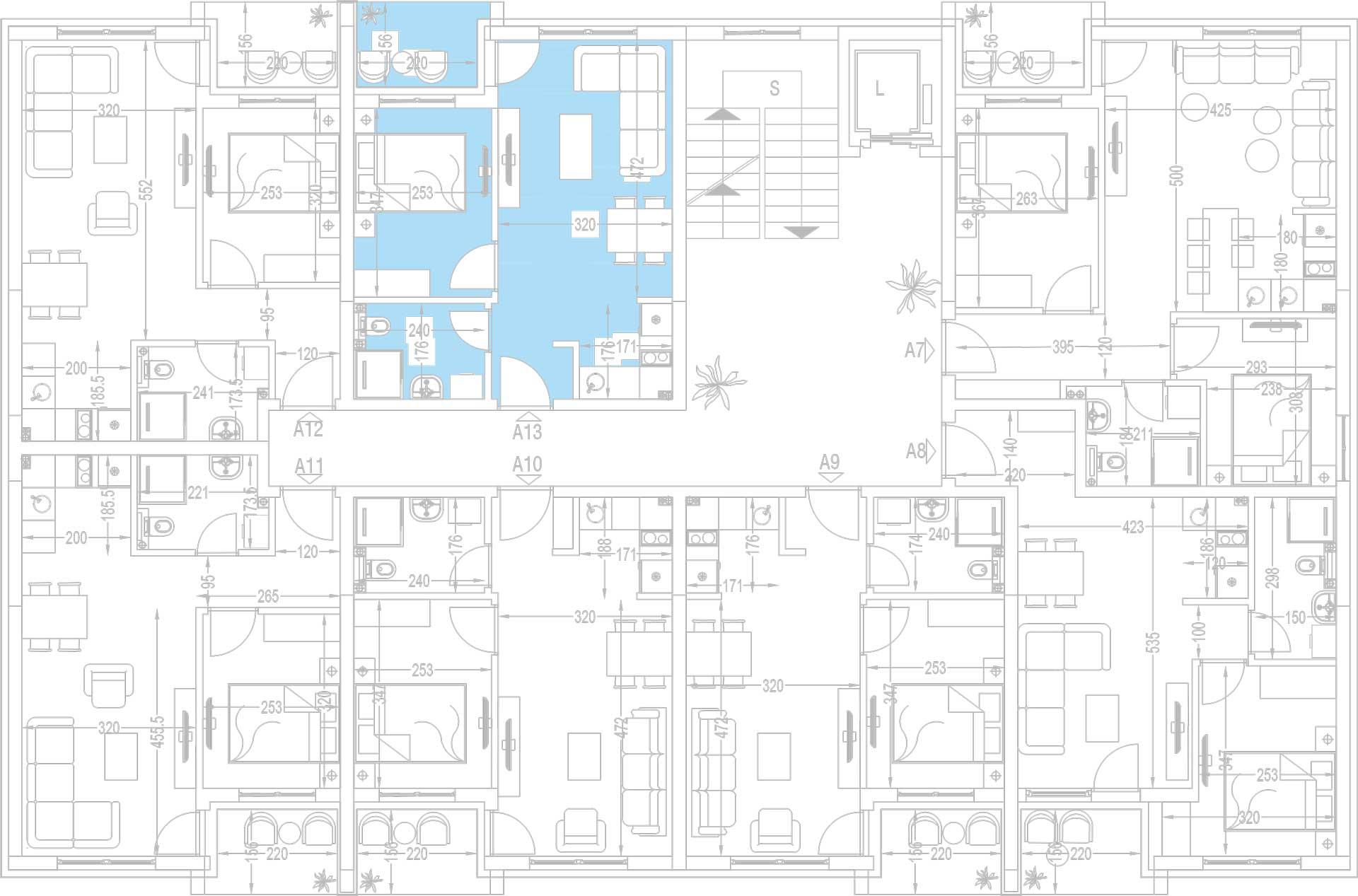 Orjentacija-stambenih-jedinica-A13,-A20,-A27,-A34,-A41,-A48