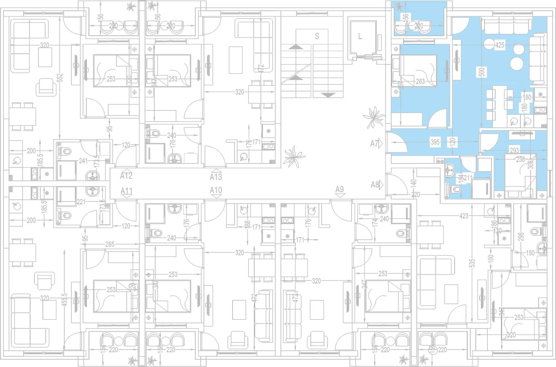 Orjentacija-stambenih-jedinica-A7,-A14,-A21,-A28,-A35,-A42