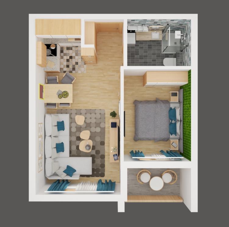 01 Vila Peković 3 - 3D Model - 36.35 m2